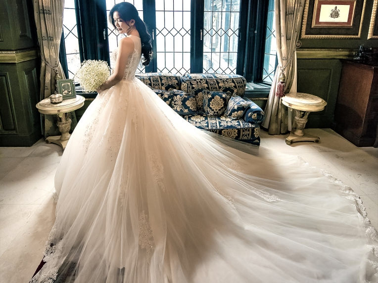 Alina蕾絲。全新手工婚紗 ++ 『高級訂製禮服款』 Alina Bridal Dress 台灣婚紗禮服